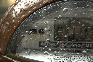 Rain on a parking meter in Frederick