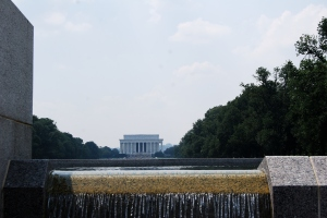 The view from the WWII Memorial