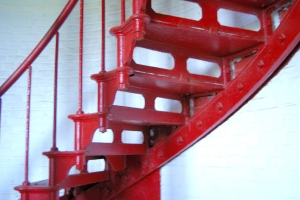 The stairs inside the Cape Hatteras lighthouse.