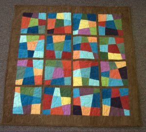 I hand dyed most of the fabrics in this quilt