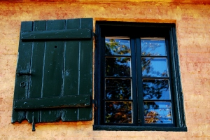 A window on old slave quarters in Frederick