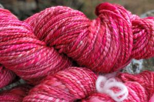 Pink handspun fingering weight