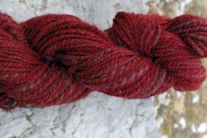 Alpaca/merino blend not as red as it appears
