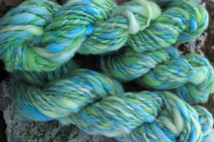 Bulky yarn that looks like ocean water