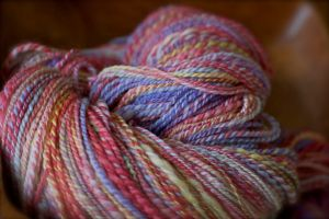 A blend of colors in this light sport weight yarn