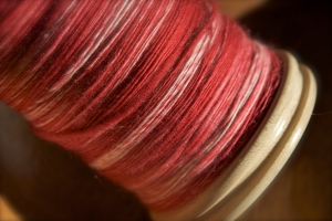 Red as dyed by Roxanne of Zen Yarn Garden